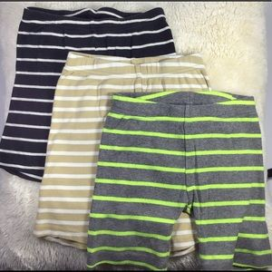 Unisex 3 pair stretch striped shorts 4T CARTERS
